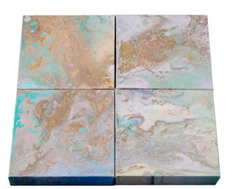 abstract painting original art 4 canvasses