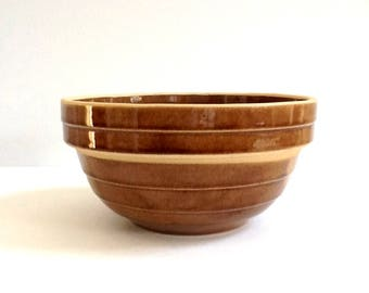 "Glazed Stoneware Mixing Bowl, Made in USA, 8"" Round Mixing Bowl"