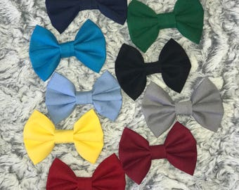 Clip On Baby Bow Ties - Solid Colors