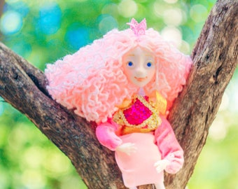 Magic doll Collectible art doll pixi doll children birthday heirloom doll Princess doll boho doll happy bright gift sunny posable doll