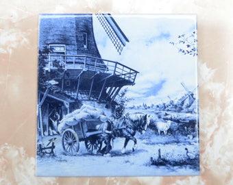 Beautiful - Holland - Antique Delft Blue Tile