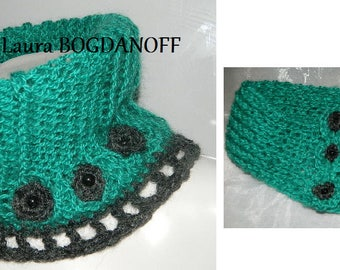 set: snood knitted maxi and (crocheted) neck warmer. 100% handmade