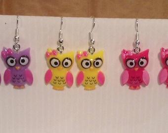 Pretty OWL earrings in resin