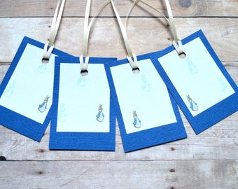 Blue/Peter Rabbit Gift Tags (Set of 4)