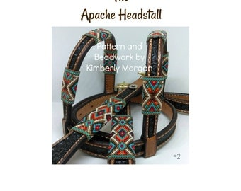 Apache odd count peyote pattern for Decorative Beading on Bridle, Headstall, Tack Gear