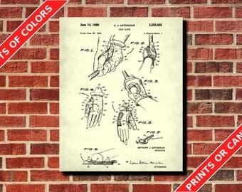 Golf Glove Poster, Golfing Wall Art, Golfing Patent Print, Vintage Golf Poster, Golfer Gift, Golf Decor, Golf Wall Art, Golf Wall Art