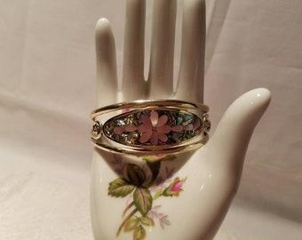 Hecho EN Mexico Sliver Abalone Shell bracelet