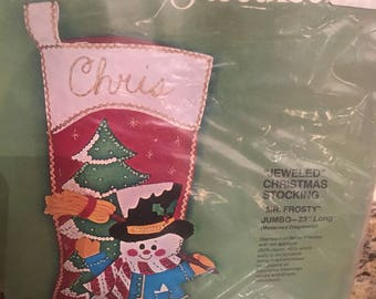 Etsy your place to buy and sell all things handmade bucilla christmas needle craft jeweled christmas stocking kit solutioingenieria Images