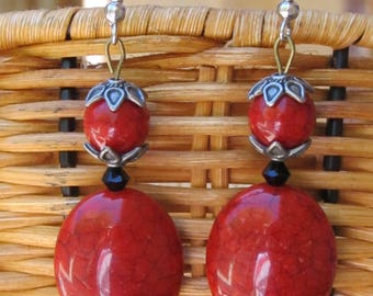Lulu Final Fantasy X Regal Red Hook Earrings FF10 FFX Cosplay Final Fantasy 10