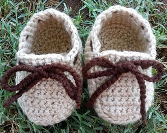 Crochet baby mocassins, baby boy loafers, baby shoes, baby shoes with laces, baby mocassins