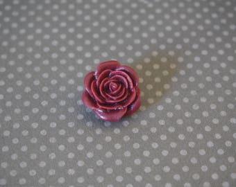 Snap chunk pink Burgundy 21mm polymer clay
