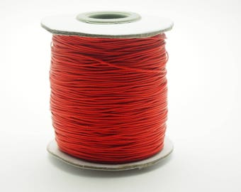 Bright red waxed cotton in 0.5 mm in diameter