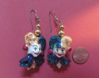 Mardi Gras Jester Earrings