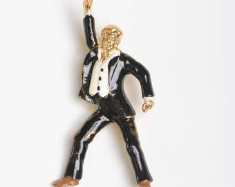 Brooch for him, John Travolta, Saturday night fever, cinema brooch,