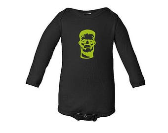 Frankenstein Halloween bodysuit, Frankenstein Costume, Long Sleeve