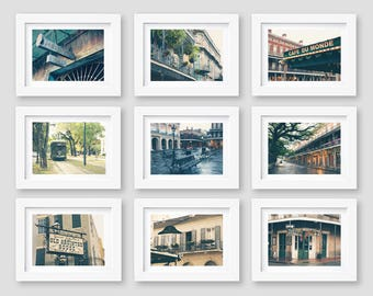 New Orleans Art, New Orleans Print Set, Wall Art, Photography, French Quarter, Gallery Wall, Travel Decor, Set of 9, 5x7, 8x10, SALE