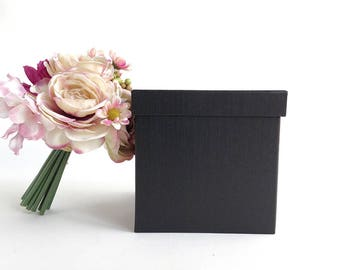 Black gift box, 2 sizes, luxury gift box, luxury box, black gift box, bridesmaid gift box, wedding gift box, groomsmen gift box, gift