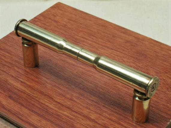2 Double Brass 30 30 Bullet Cabinet Door Handles Bullet
