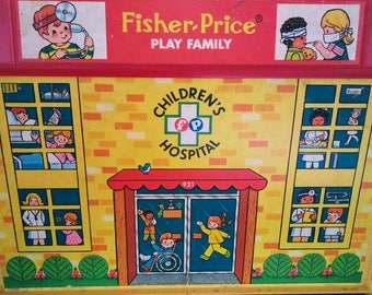 1976 Vintage Fisher Price Play Family Hospital #931