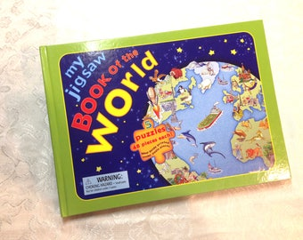 Jigsaw Book of the World 5 Puzzles 48 Pieces Each Perfect New Condition