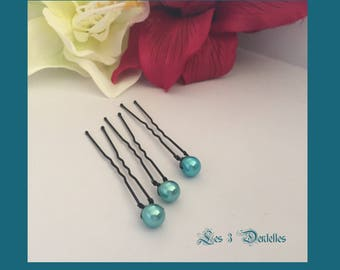wedding Pearl turquoise spike Pearl wedding * 3 lace *.