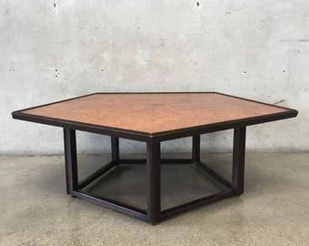 Mid Century Modern Pentagon Coffee Table by Edward Wormley for Dunbar (5BG9WX)