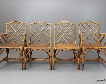 Chinese Chippendale Dining Chairs