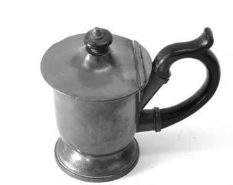 James Dixon pewter jug, cup