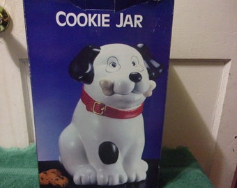 Fido with a Bone Cookie Jar