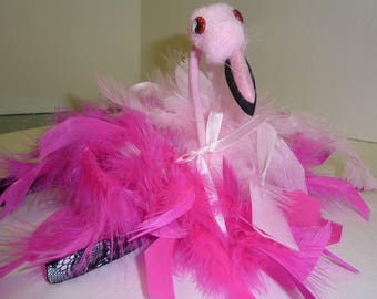 Flamingo hair clip, clip into hair on a hat or headband. Flamingo fascinator