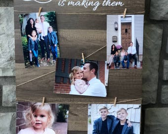 The Best Thing About Making Memories Is Making Them - Wood Sign - Perfect Present for Parents - BabyShower Gift - Baby Announcements
