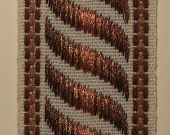 Vintage Brown and beige 40 mm Ribbon
