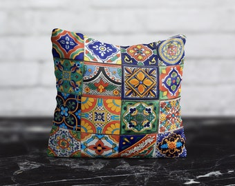 Morocco PillowCase Style Throw Pillow Cover Geometric Pillow Orange Decorative Silk Pillow Cover Her Gift Mom Satin Pillow Luxury Home Decor