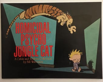 Homicidal Psycho Jungle Cat A Calvin And Hobbes Collection By Bill Watterson Vintage Comic Strip Book 1994