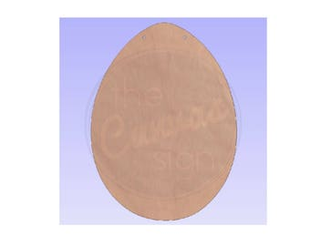 EASTER EGG - Unfinished Wood Cutout - DIY - Wreath Accent, Door Hanger, Ready to Paint & Personalize