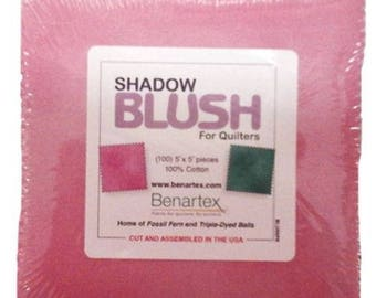 "Shadow Blush Assorted Colors 5"" Squares Pack from Benartex"