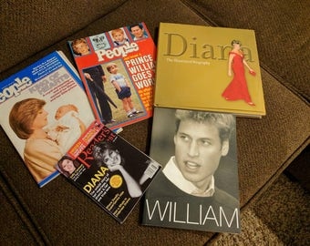 Collection of Princess Diana Books & Magazines