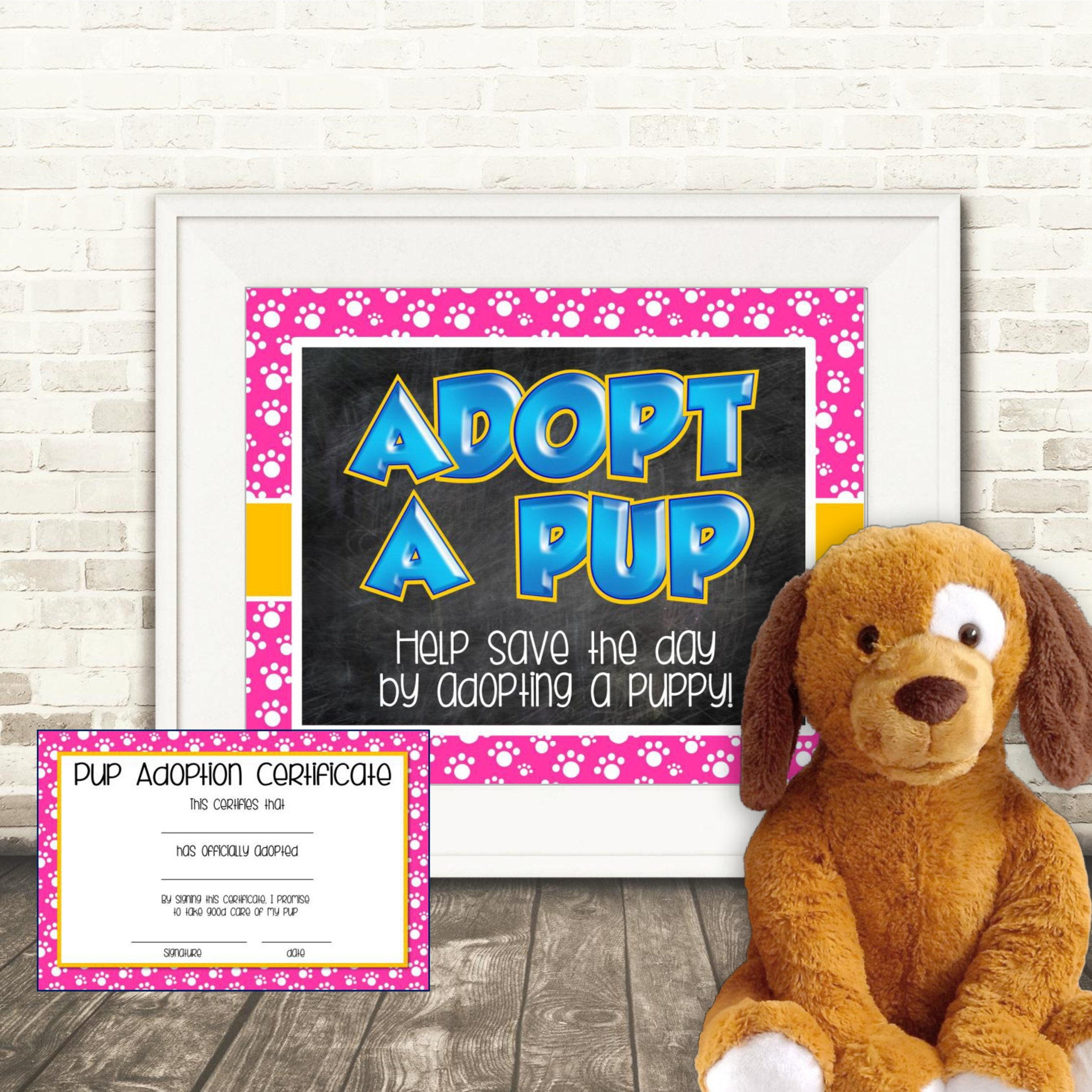 Puppy adoption certificate adopt a pup zoom xflitez Gallery