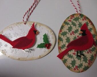 Cardinal Wooden Christmas Ornament-Christmas Decor-Christmas Ornaments-Rustic Christmas Ornaments