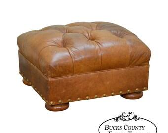 Vintage Leather Ottoman