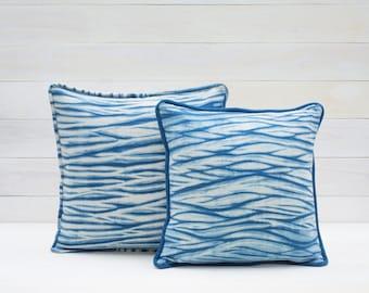 Gentle Waves Shibori Pillow Cover