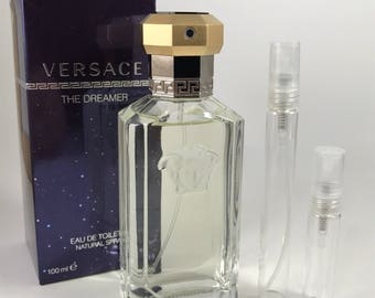 Versace The Dreamer Eau de Toilette Glass Atomizer Decant / Sample in 5ml/10ml