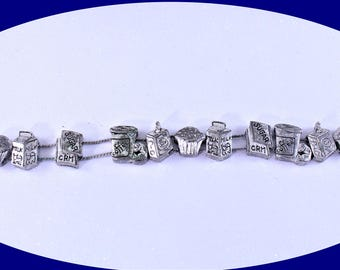 Vintage Bracelet Silver Tone Slide Bracelet Charm Bracelet Vintage Jewelry Vintage Slide Bracelet Boho Bracelet Costume Jewelry Gift For Her