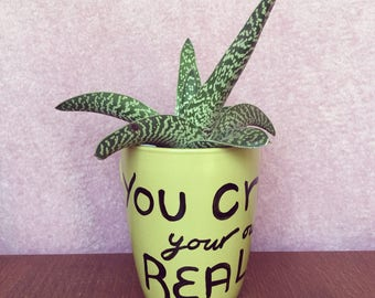 You Create Your Own Reality- LOA- Law of Attraction- Guacamole Green Mug- Fun Mug- Cute Gift- Motivation- Motivational Quotes
