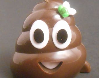 CUSTOM Ornament Made From Smiling Stinky Poop Emoji Poo Dung Fly