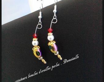 Jewelry designers earrings. damsel