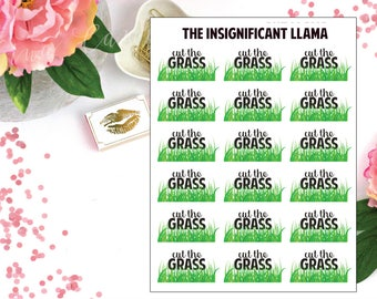 Cut The Grass - Planner Stickers
