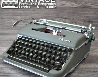 Serviced Olympia SM4 Typewriter Working Black Red Ribbon Deluxe (SM3 Upgrade) Excellent condtion