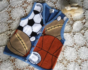 Soccer mom vest, ready for all sports Soccer Football Basketball baseball, by Christopher Banks, Size Medium, made of 55 Ramie and 45 cotton