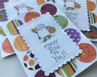 Halloween card, ghost card